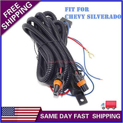 Fog Light Wiring Harness Kit For Chevy Silverado 03-06 (07 ...