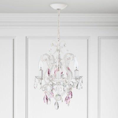 Pink Crystal Bead Mini Chandelier S Room Lamp Bedroom Swag Lighting Fixture 743724414905 Ebay