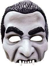 Halloween Horror Dracula Half Face Mask Fancy Dress Gothic Prince Of Darkness