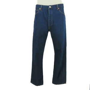 df7c859bdd2 Levis 501 Mens Jeans 36 x 33 Blue Denim Dark Wash Button Fly
