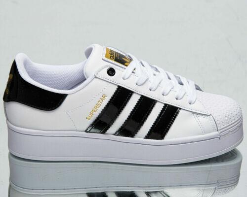 Adidas Originales Superstar audaz para mujer blanco negro oro Reino Unido 7.5B US 8 EU 41.1/3