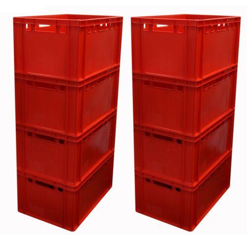 8 Stück E3 Kiste Rot für Lebensmittel /& Hochdruck Reinigung geeignet Gastlando