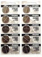 10 Pcs Energizer Cr2025 Lithium Coin Cell 3v Original Batteries Exp: 2025