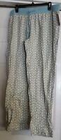 Womens Gilligan & O'malley Sleepwear Pewter Aqua Sleep Pants Size Xl X-large