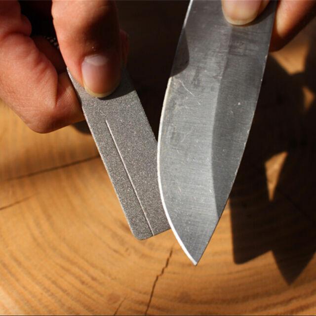 EDC Mini Diamond Knife Sharpener Fish Hook Home Sharpening Disc Outdoor Pocket E
