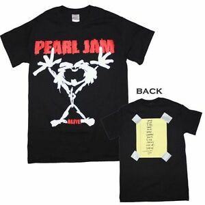 PEARL-JAM-Stick-Man-Logo-Stickman-Alive-T-Shirt-New-Authentic