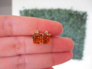1-47-Carat-Citrine-w-08-CTW-Diamond-Earrings-14k-Yellow-Gold-E497-sep