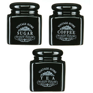 Vintage-the-cafe-sucre-bidon-home-ceramique-cuisine-campagnarde-bocaux-stockage-set