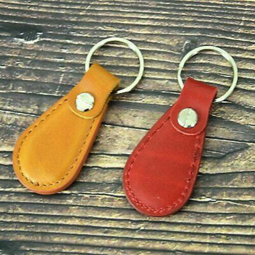 Keychain Echtes Vintage Tragbare Leder Anhänger Multifunktions-Schlüsselanhänger