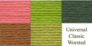 Universal-Classic-Worsted-Yarn-100g-Skein-Loom-Knit-Crochet-FS-Offer