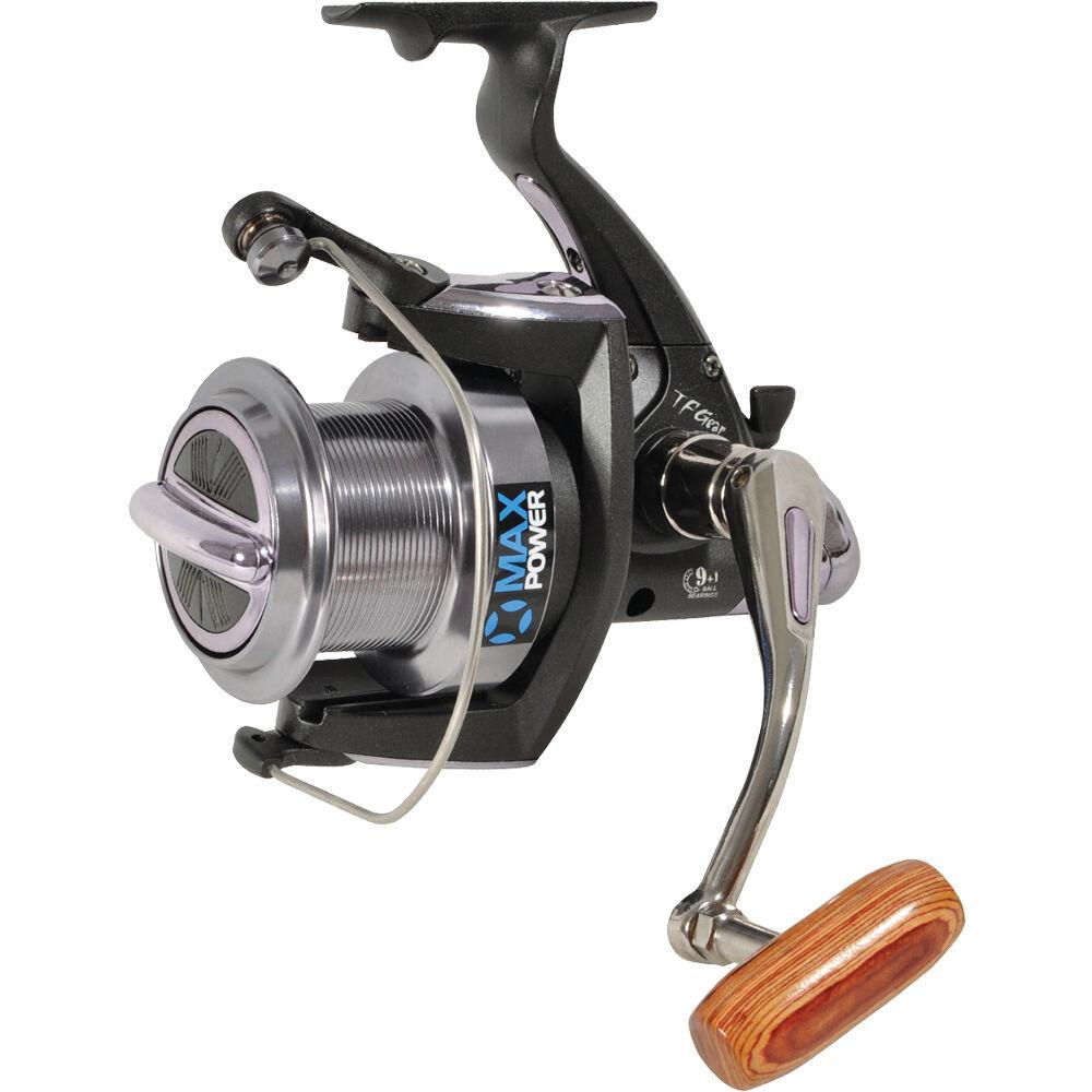 TF Gear NUOVO MAX POWER Big Pit Heavy Duty Smooth trascinare Pesca della Carpa Mulinello-GRATIS P + P