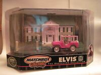 Matchbox Collectibles - Elvis The Graceland Collection - 3rd of 5 in Series - 1960 MGA Convertible (Dark Red) w/Graceland Diorama