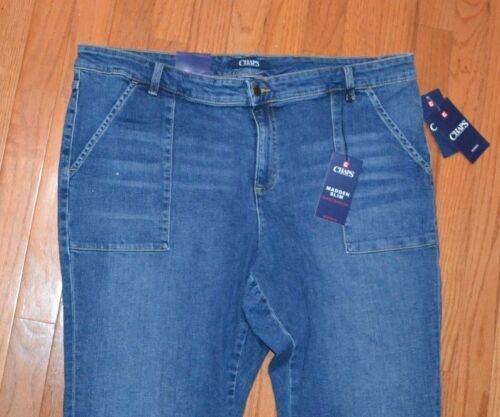 Chaps Denim Jeans Madden Slim Fitted Through Hip /& Thigh Slim Leg Jean
