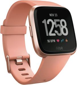 Fitbit 4124450 Versa Smart Watch - Peach Rose Gold Aluminium