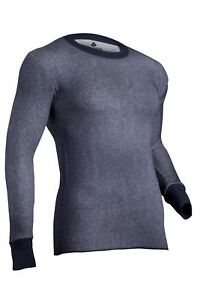 Navy Men Size M Indera Dual Face Performance Thermal Pants with Silvadur