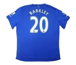 Everton 2015-16 ORIGINALE HOME SHIRT Barkley #20 (eccellente) XXL SOCCER JERSEY