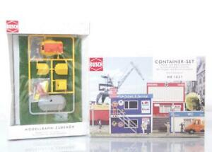 MINT-BUSCH-1031-6026-OO-HO-KITS-CAMPING-SET-amp-OFFICE-KIOSK-CONTAINER-SET