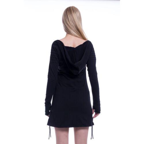 Innocent Lifestyle Jaith Hood Black Sizes UK 10 UK 18 Ladies Gothic Fashion