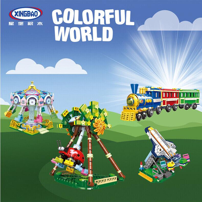 Baukästen Xingbao Spielplatz Amusement Park Modell Ostern Geschenke Kind Toy
