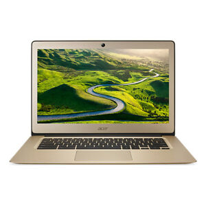 Acer Chromebook Intel Celeron 2gb RAM 32gb eMMC 14 Inch HD Display Gold Laptop