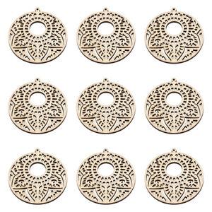 10x-Undyed-Flat-Round-Wheat-Wood-Big-Pendants-For-DIY-Jewelry-Making-64x60x3mm