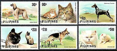 Cto Katzen & Hunde 1979 Moderne Techniken Philippinen 1425-1430