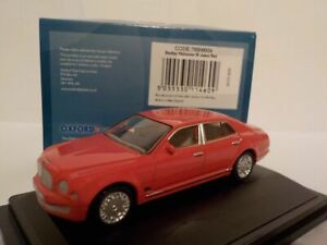 Model-Car-Bentley-Mulsanne-Red-1-76-New