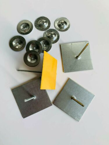62mm stick pins //rockwool insulation hangers Box of 100