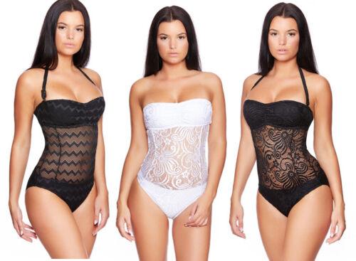 Alla Moda Costume Da Bagno Monokini Onepiece bikini colore a scelta NUOVO taglia 36 - 50 (h34)