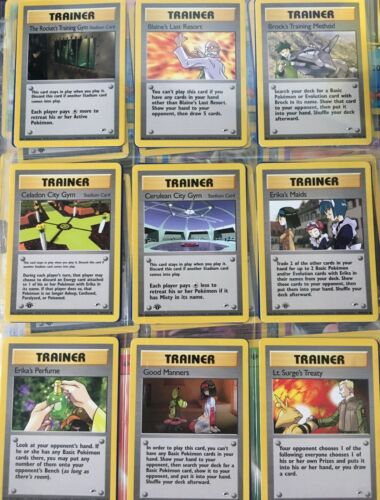 Common GYM HEROES Set Pokemon Cards Uncommon Trainer 1st edition