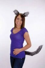 Gray Wolf Ears Tail Mini Nose Mask Costume Accessory Kit Set One Size