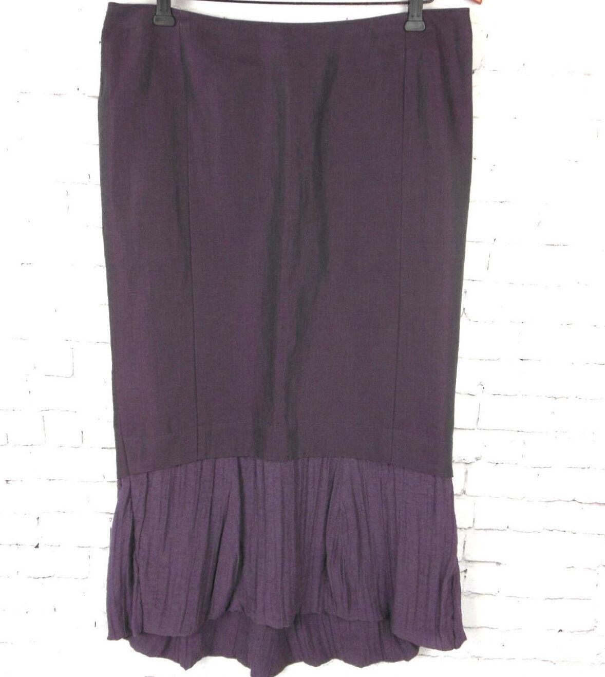 ..SONJA MAROHN Women's Linen Purple Lagenlook Skirt Sz 8 - 10