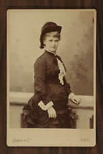 Christine Nilsson, Opéra Singer, Photo Cabinet card, Benque Paris