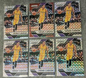 2016-17-Panini-Prizm-Mosaic-Red-amp-Silver-LOT-6-91-Jordan-Clarkson-Lakers-HOT
