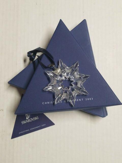 Swarovski Crystal 2003 Annual Star Snowflake Christmas ...