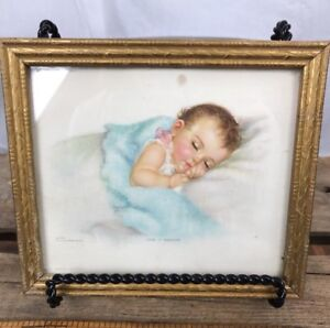 Image Is Loading Nursery Art Charlotte Baker Prints Vintage Baby