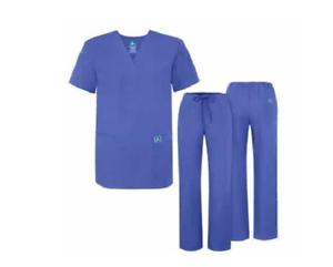 ca7c0969987 Adar 701 Unisex Medical Nursing Doctor Scrub Set Uniform V neck ...