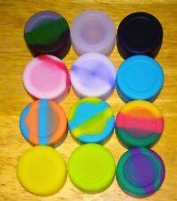 1 Food-Grade Non-Stick Silicone Flat Round Lip Balm Container