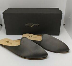 100-Authentic-YOSI-SAMRA-Womens-Vidi-Mule-Gray-Size-6-only