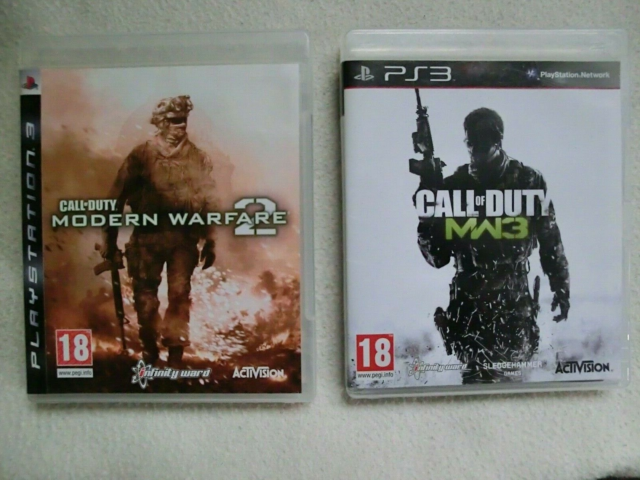 Call of Duty Modern Warfare 2 og 3, PS3, action, Begge spil…