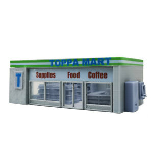 Outland Models Scenery for Model Cars Convenience Store & Accessories 1:64
