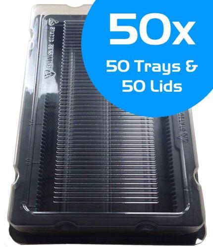 50x DIMM DDR DDR2 DDR3 RAM mémoire antistatique Box 50x Mémoire Stockage Plateau Support
