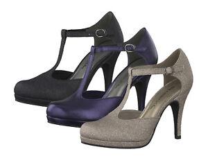 Details zu Tamaris 1 24421 31 Damen Schuhe Pumps T Steg Plateau