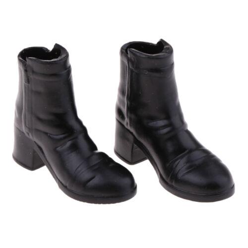 Paire de 1//6 Echelle Bottes à Talon Chaussures Féminins pour Figurine 12