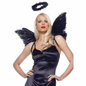 Image Is Loading Good Evil Naughty Nice Angel Wings Halo Halloween