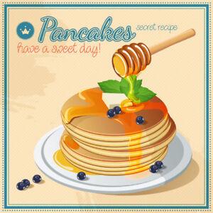 RETRO-PANCAKES-METAL-SIGN-FAST-FOOD-DINER-ART-TIN-PLAQUE-VINTAGE-CAFE-BAR