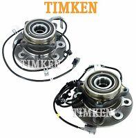 Dodge Ram 2500 4wd Pair Set Of Front Wheel Bearings And Hubs Assemblies Timken