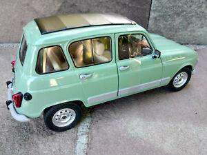 Renault-4L-GTL-au-1-18eme-verte-longueur-20cm-Solido-neuve-dans-sa-boite