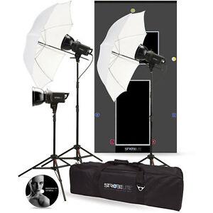 NEW-WESTCOTT-3-HEAD-3x-300W-Studio-Flash-Kit-FREE-S-box-amp-Ring-BOWENS-S-TYPE