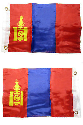 """12x18 Malaysia Country 2ply Double Sided 12/""""x18/"""" Flag Grommets"""